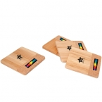 Promotional products: BAMBOO/CORK COASTER SET