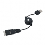 Promotional products: SMART RETRACTABLE 3-IN-1 CHARGING CABLE