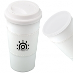 Promotional products: 500 ML (16 OZ.) MIGHTY PLASTIC MUG WITH SLEEVE