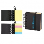 Promotional products: SPIRAL STICKY 250 SHEET NOTEPAD WITH NOTEFLAGS