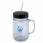 Promotional products: 500 ML. (16 OZ.) MASON JAR SHAPED TUMBLER