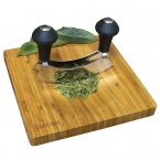 Promotional products: MINCING KNIFE AND BAMBOO BOARD SET