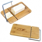 Promotional products: MINI BAMBOO CHEESE BOARD WITH SLICER