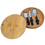 Promotional products: ROUND BAMBOO SERVING SET
