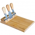 Promotional products: BAMBOO CHEESE BOARD WITH UTENSILS