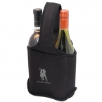 Promotional products: TWO BOTTLE NEOPRENE WINE BAG/CADDY