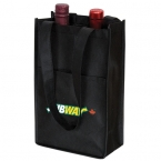 Promotional products: NON WOVEN TWO BOTTLE WINE BAG