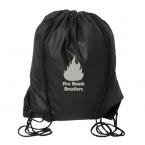 Promotional products: URBAN ADVENTURER NON WOVEN DRAWSTRING BACKPACK