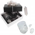 Promotional products: TILTED GLASSES WITH ICE ROCKS GIFT SET