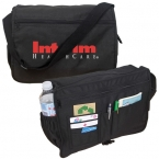 Promotional products: RECYCLED PET MESSENGER BAG