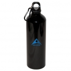 Promotional products: 750 ML (25 OZ.) ALUMINUM WATER BOTTLE WITH CARABINEER