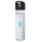 Promotional products: 500 ML. (16 OZ.) SINGLE WALL GLASS WIDE MOUTH WATER BOTTLE