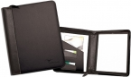 Promotional products: PEMBROOK LEATHER ZIPPERED PADFOLIO