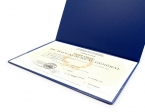 Promotional products: Letter size diploma holder