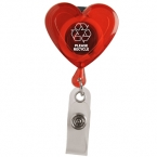 Promotional products: Heart secure-a-badge™ w/ alligator clip