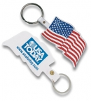 Promotional products: U.s. Flag Flexible Key-tag