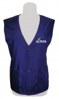 Promotional products: Poplin vest snap closure