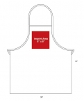 Promotional products: White Promo Bib Apron 28x31