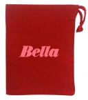 Promotional products: Red Cotton Drawstring Bag 4x5