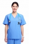 Promotional products: Unisex V-Neck Scrub Top 28 Colors