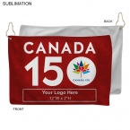 Promotional products: Canada 150 Promo Microfiber Terry Golf Towel 12x18, Sublimated