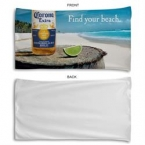 Promotional products: 24x46, sublimated microfiber terry beach towel