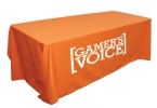 Promotional products: Table throw for 6' table (Open Back)