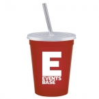 Promotional products: 16 oz. Stadium Cup with Lid & Straw