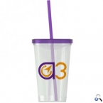 Promotional products: On-The-Go -20 oz. Straw Tumbler -Single-wall