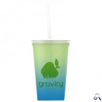 Promotional products: On-The-Go - 20 oz. Color Change Straw Tumbler