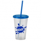 Promotional products: The Pioneer - 16 oz. Insulated Straw Tumbler