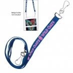 "Promotional products: 3/8"" Econo Dual Attachment Lanyard"