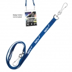 "Promotional products: 3/8"" Recycled Econo Dual Attachment Lanyard"