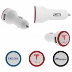Promotional products: Double Round Car Charger