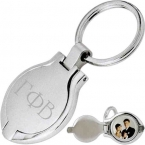Promotional products: Round photo keytag