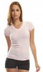Promotional products: Ladies bamboo v-neck