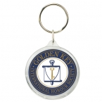 Promotional products: Round crystal keytag