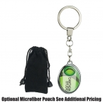 Promotional products: Oval two sided die cast metal domed keytag