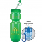 Promotional products: 22 oz bike bottle (straw tip lid)