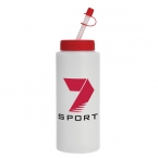 Promotional products: 32 oz sport bottle (straw tip lid)