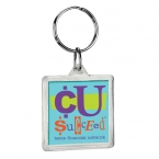 Promotional products: Square crystal keytag