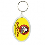 Promotional products: Oval crystal keytag