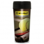 Promotional products: 16oz elite insert tumbler with black plastic lid