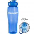 Promotional products: 24 oz tranlucent contour bike bottle (flip top lid)