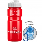Promotional products: 20 oz recreation bottle (flip top lid)