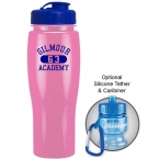 Promotional products: 24 oz contour bike bottle (flip top lid)