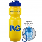 Promotional 22 Oz Bike Bottle (flip Top Lid)