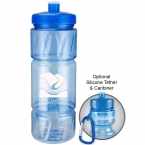 Promotional products: 22oz pulse bottle with low profile push pull lid