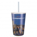 Promotional products: 16oz Maxcolor Tumbler with Lid and Straw