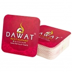 Promotional products: Square 60 Point Pulp Board Coaster With Four Color Process Imprint